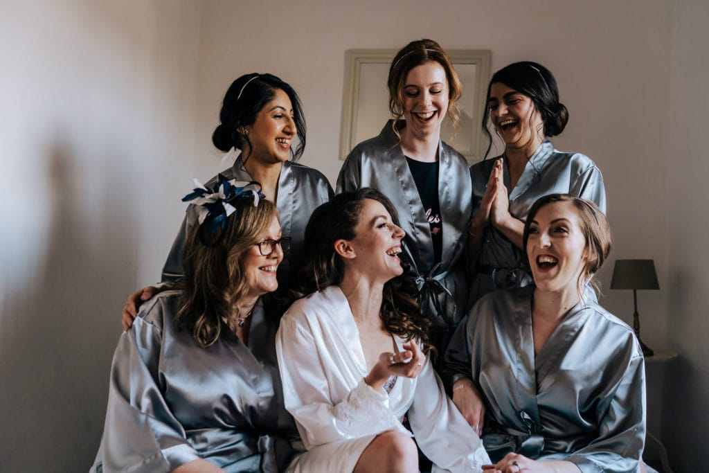 bride and her bride tribe
