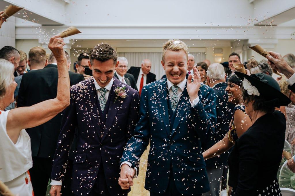 gay wedding couple at pembroke lodge wedding surrey wedding photographer