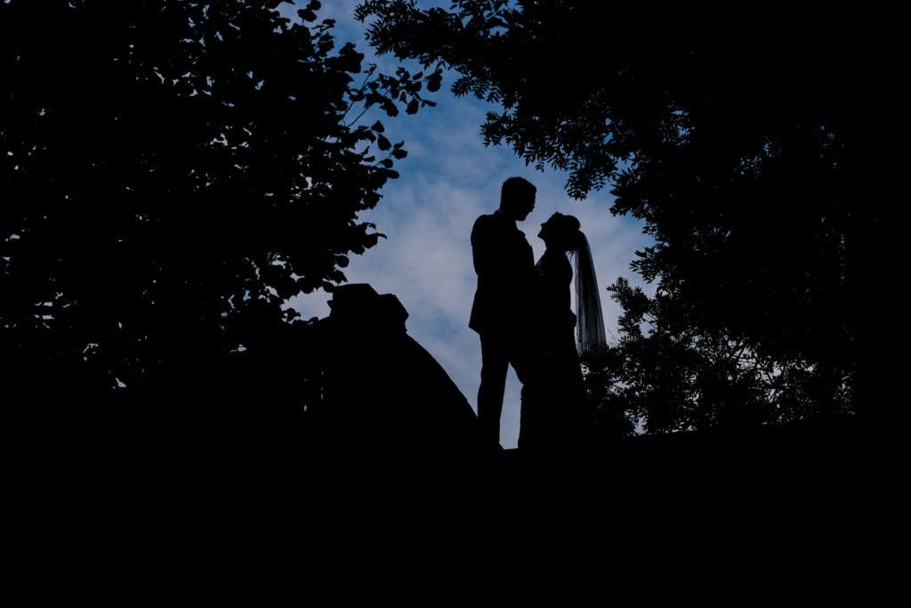 london portrait of wedding couple