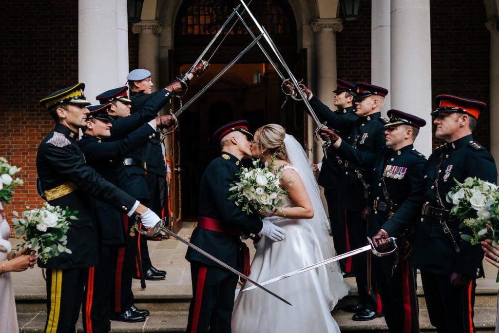UK Military Wedding Photographer capturing wedding at RMAS