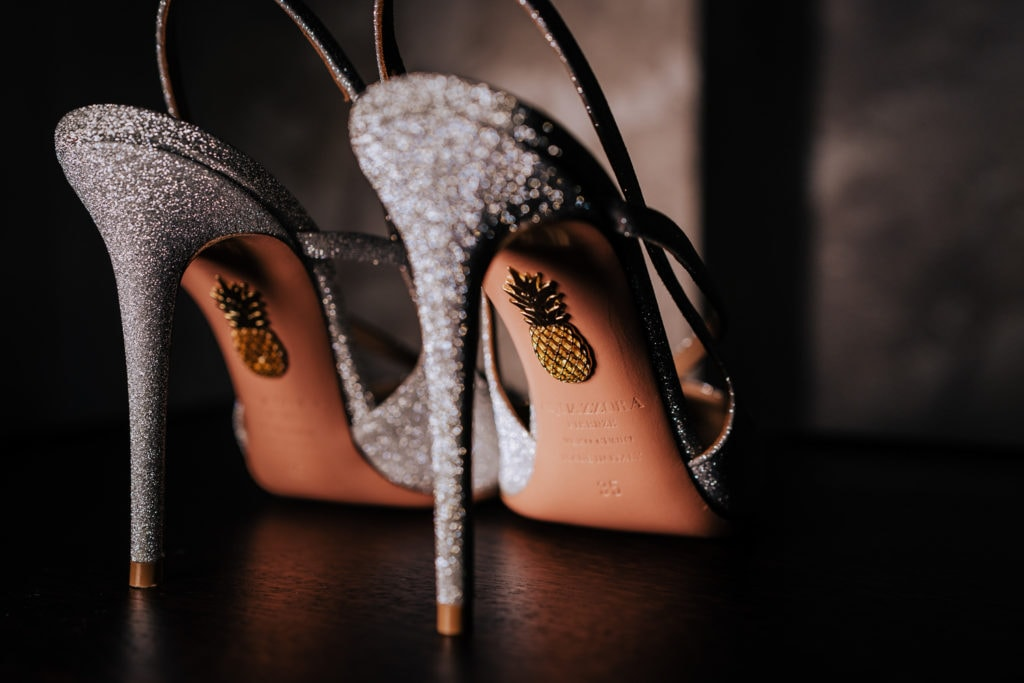 Wedding shoes captured by Wiltshire Wedding Photographer