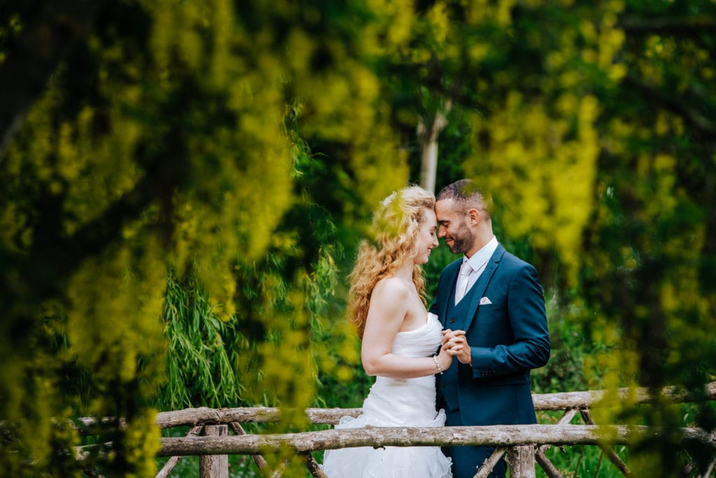 intimate portrait of bride and groom captured by wiltshire wedding photographer