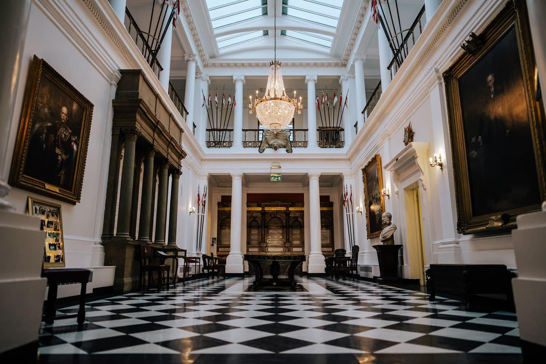 hallway within Robertson House for wedding