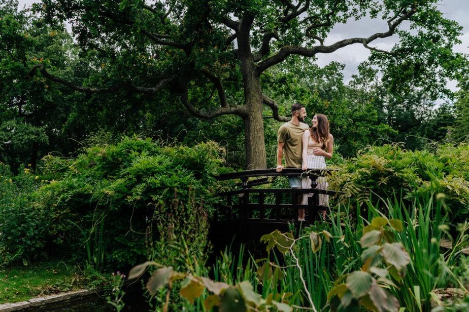Regents Park Engagement Shoot | London Wedding Photographer | fun pre wedding shoot