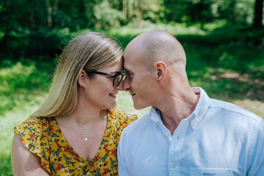Virginia Water Engagement Shoot | Surrey Wedding Photographer | engagement shoot with a dog