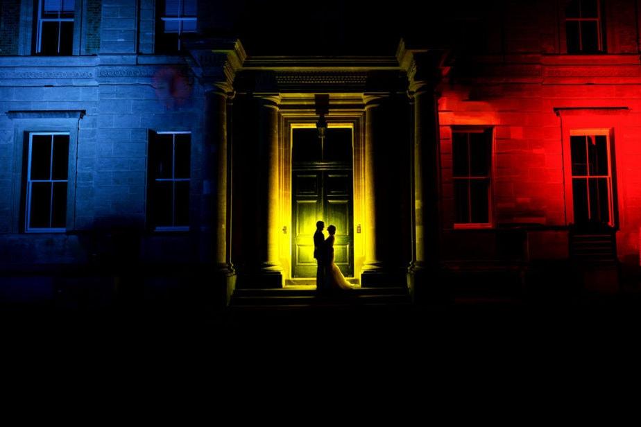 RAMC colours at Robertson House Sandhurst Wedding