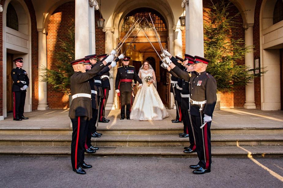 winter wedding at RMAS Sandhurst